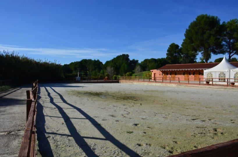 se vende centro equestre con pista geotextil